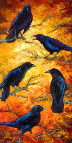 Crow gossip column raven-crow