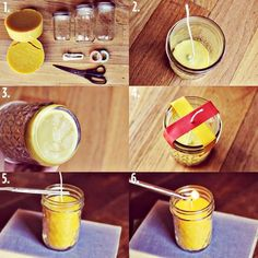 homemade beeswax candle project
