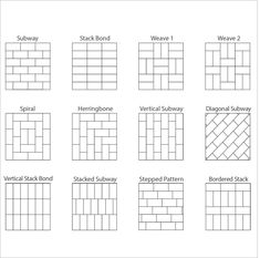 Retro Soho x Porcelain Subway Tile Tile Layout Patterns, Subway Tile Patterns, Paver Patterns, Floor Tile Patterns, Brick Patterns Patio, Floor Design, Tile Design, Soho, Ceramic Subway Tile