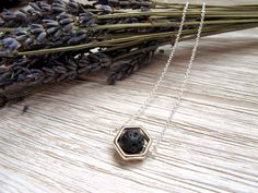 Essential Oil Diffuser Necklace, Minimalist Style, Diffuser Jewelry, Geometric Necklace, Hexagon Framed Lava Stone by FoxAndBearEssentials by FoxAndBearEssentials on Etsy https://www.etsy.com/ca/listing/482073849/essential-oil-diffuser-necklace