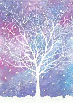 Christmas Snow ACEO