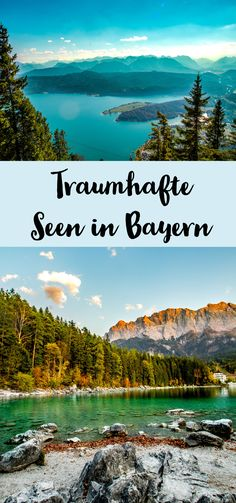 The (for me) 4 most beautiful lakes in Bavaria! - Sophia& world - My 4 most beautiful lakes in Bavaria! – Königsee, Chiemsee, Eibsee and Walchensee. Dakota Do Sul, Voyage Dubai, Les Continents, Reisen In Europa, Excursion, Destination Voyage, Europe Destinations, Nightlife Travel, Dubai Travel