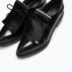 BLUCHER WITH FRINGES-Flats-Shoes-WOMAN | ZARA United States
