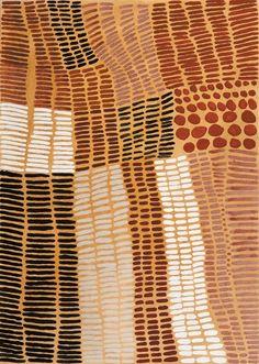 Lena Nyadbi / Jimbala Country 2000 natural pigments on canvas  100 x 140cm