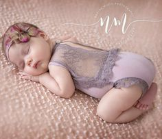 Bacalao 247Newborn encaje mameluco, bloomer de bebé, bebé, lazo bebé detrás…