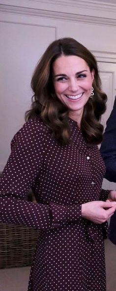 97a25df6fca Whistles Margot Burgundy Spot Shirt Dress - Kate Middleton Dresses