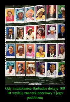 Gdy mieszkaniec Barbados dożyje 100 lat wydają znaczek pocztowy z jego podobizną – Bingsu, Barbados, Everything, Fun Facts, Fox, Humor, Motivation, Memes, Funny