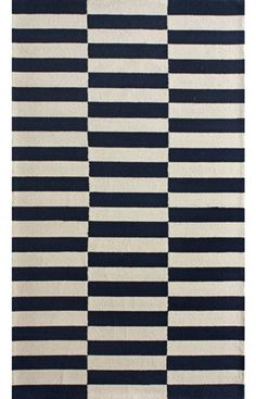 Rugs USA Homespun Blocks Navy Rug, one of our all time favorites! Now in stock!