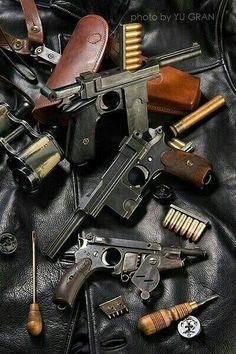 Mauser Pistols (Bergmann at the bottom?)