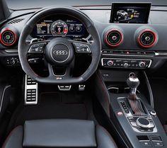 Audi RS 3 Sedan 2017 Enfim a esperada versão apimentada da família A3. Modelo apresentado no Salão de Paris @mondialauto tem motor 2.5 TFSI que desenvolve 400 cv e torque máximo de 480 Nm. o RS 3 Sedan acelera de 0 a 100 km/h em 41 segundos. O visual afiado entrega a mesma mensagem.  A frente mais larga que a do modelo convencional a grade Singleframe com o logo quattro e as grandes saídas de escapamento ovais dão ao novo membro da linha RS suas características distintas. O interior também…