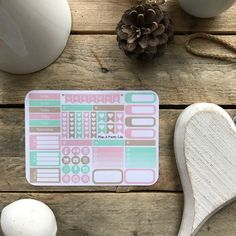 Planner Stickers - Weekly Kit Pastels, Erin Condren Vertical Hourly, Spring, Subtle, Pink, Mint, Beige by PlanAPrettyLife on Etsy