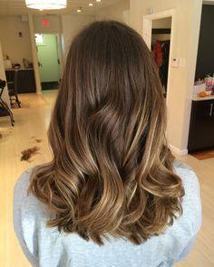 medium thick balayage hair