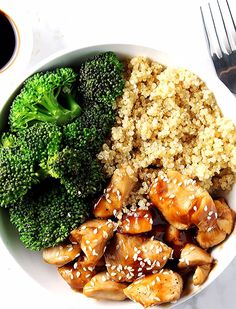 Healthy Chicken Recipes, Healthy Dinner Recipes, Healthy Snacks, Beef Recipes, Recipes With Quinoa, Easy Recipes, Healthy Teriyaki Chicken, Salad Recipes, Healthy Diners