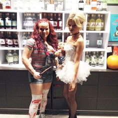 Starla and Toni as Chucky & Bride of Chucky. Like this photo to vote for the people's choice winner! Voting ends at 10pm.