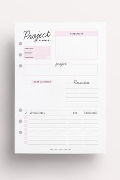 Project Planner Homework Planner Assignment por IndigoPrintables
