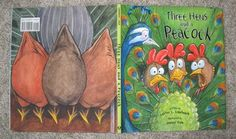 Brimful Curiosities: Fan Peacock Craft - Three Hens and a Peacock by Lester Laminack Book Review