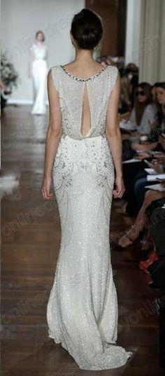 Wholesale A-Line Wedding Dresses - Buy 2014 Luxury Jenny Packham Sheer Crew Neck Crystals Wedding Dresses Cap Sleeved Chiffon Bridal Gowns w...
