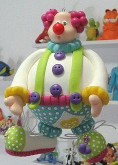 Master class de arcilla de polímero  Clown master class cake topper