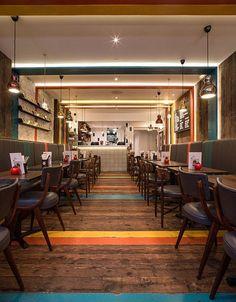 Gourmet Burger Kitchen (Notting Hill, London, UK) / moreno:masey - Restaurant & Bar Design Awards: