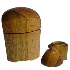 toczenie w drewnie Pojemnik w kształcie trójkąta Reuleaux'a