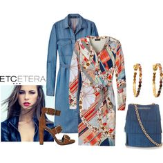 Etcetera | Summer 2016: Wear the BLUEGRASS dress as a topper over MARLOWE print dress. www.etcetera.com.