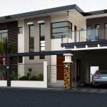 House, two story house design, modern house design, filipino house, small. Two Story House Design, House Front Design, Modern House Design, Filipino House, One Storey House, Small House Exteriors, Kerala House Design, Modern Mansion, Modern House Plans