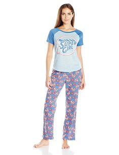 b1d17708e7 Buy Supergirl Juniors Pajamas Set (Teen Adult) - Blue - Shop the latest  collection of Women s Sleepwear from the most popular stores.