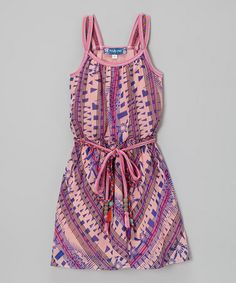 Look what I found on #zulily! Pink Abstract Stripe Dress #zulilyfinds