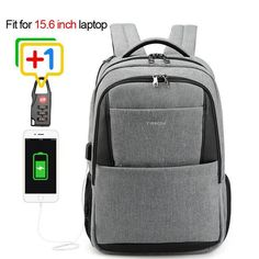 Tigernu Men Backpack Anti Theft Usb Charging 15.6 Laptop Bag Mochilas Escolar Feminine Male Bagpack