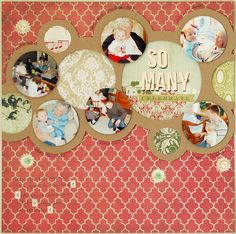 So Many Celebrate 12×12 Layout by Valerie O'Neal using Little Black Dress Kit Club's November Rubies and Sapphires Kit    scrapbook kit club 12x12 layout