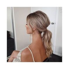 Ponytail Bridal Hair, Bridesmaid Hair Ponytail, Wedding Ponytail Hairstyles, Ponytail Updo, Ball Hairstyles, Bride Hairstyles, Ponytail For Wedding, Wedding Pony Tail, Wedding Hair Updo