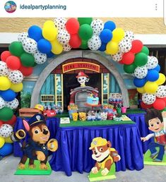 Character cut outs Paw Patrol Party Decorations, Balloon Decorations, Baby Boy Birthday, 2nd Birthday, Birthday Ideas, Paw Patrol Birthday, 4th Birthday Parties, Balloons, Barbie