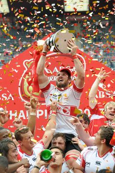 Jaco Kriel Photos - Jaco Kriel of the Lions celebrates with the trophy during the Absa Currie Cup Final match between Xerox Golden Lions and DHL Western Province at Emirates Airline Park on October 24, 2015 in Johannesburg, South Africa. - Absa Currie Cup: Xerox Golden Lions v DHL Western Province Jaco, Go Bokke, 2007 World Cup, South African Rugby, Golden Lions, Emirates Airline, World Cup Winners, Arnold Schwarzenegger, October