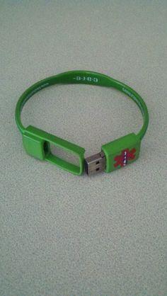 USB Medical Alert bracelet!  We got this for my husband post-transplant and it's made tracking his meds so much easier.  Blog:  JK – Just Kidneying