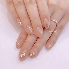 Cute Acrylic Nails, Cute Nails, Pretty Nails, Gold Nail Art, Pastel Nails, Elegant Nail Designs, Nail Art Designs, Nails Factory, Office Nails