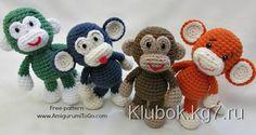 Смешная обезьянка амигуруми | Клубок