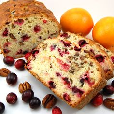 So lovely with a cup of tea and a good book: Cranberry Orange Pecan Sweet Bread. #food #cranberry #orange #pecan #sweet #bread #baking #Christmas