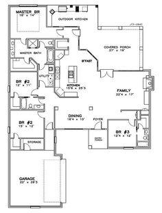 Open concept floor plan new ranch model home for Completely open floor plans