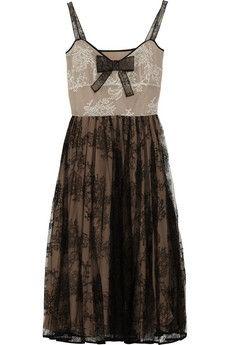 Valentino|Pleated lace dress|NET-A-PORTER.COM - StyleSays