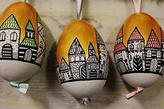maramanufaktura / kolekcia /3 husacie vajíčka/ - zlatá ulička