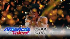 Louis hitting the golden buzzer for Jayna Brown, a 14 year old girl on AGT (7/20)
