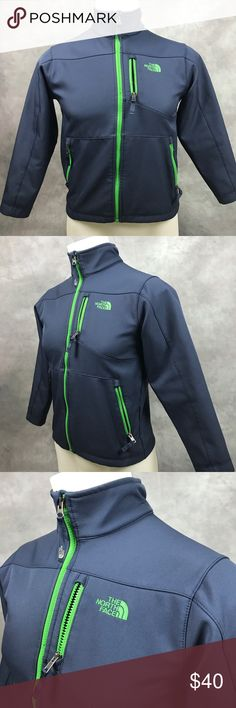 The North Face Boy's Zip Up jacket Missing tiny piece of Zipper but still works good The North Face Shirts & Tops Sweatshirts & Hoodies