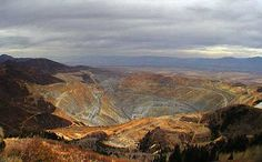Kennecott Copper Mine, Utah - truly amazing!  Also very large and deep.  I think I was more amaze on how large the trucks are that collects and transport dirt and minerals to the top of the only man made hole that can be seen from space