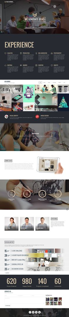 Scooter - One Page Multi-Purpose Theme by CreAtive Web Themes, via Behance