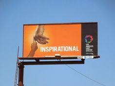 Inspirational Los Angeles LGBT Center billboard