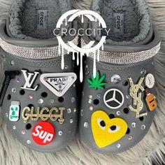 Crocs Slippers, Crocs Shoes, Crocs Fashion, Sneakers Fashion, Cool Crocs, Designer Crocs, Croc Charms, Swag Shoes, Fresh Shoes