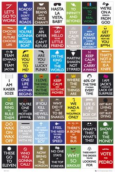 Keep calm and go to the movies: poster of famous quotes from films