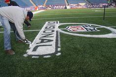New England Patriots - preparing the field