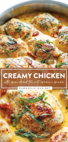 Damn Delicious Recipes, Good Healthy Recipes, Healthy Food, Best Chicken Recipes, Meat Recipes, Cooking Recipes, Turkey Recipes, Sun Dried Tomato Sauce, Tomato Cream Sauces