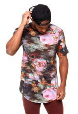 Camiseta Blunt Especial Rgb Error Floral Preta Rosa - Compre Agora   Dafiti  Brasil Erva ba1512f4dc
